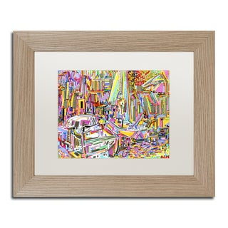 Josh Byer 'Boats' Matted Framed Art