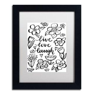 Elizabeth Caldwell 'Live Love Laugh' Matted Framed Art