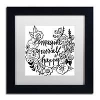 Elizabeth Caldwell 'Imagine Yourself Happy' Matted Framed Art