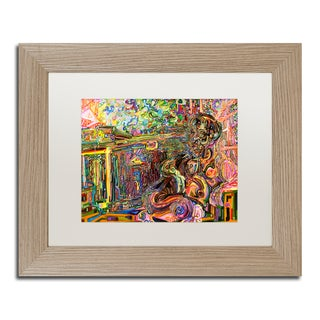 Josh Byer 'The Suntanning Man' Matted Framed Art