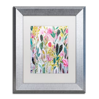Carrie Schmitt 'Meadow' Matted Framed Art