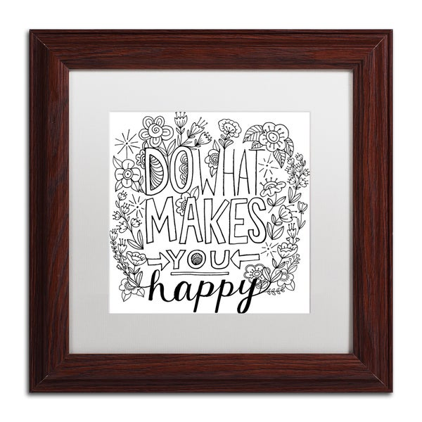 Elizabeth Caldwell 'Do What Makes You Happy' Matted Framed Art