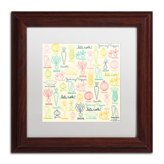 Elizabeth Caldwell 'Yummy Veggies' Matted Framed Art