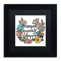 Elizabeth Caldwell 'Imagine Yourself Happy Color' Matted Framed Art
