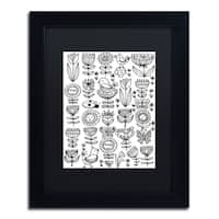Elizabeth Caldwell 'Birds And Flowers' Matted Framed Art - White