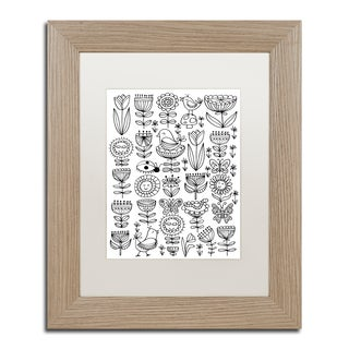 Elizabeth Caldwell 'Birds And Flowers' Matted Framed Art
