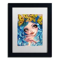 Natasha Wescoat 'Crown Of Butterflies' Matted Framed Art