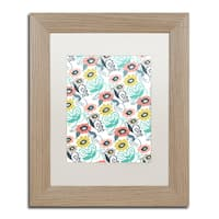 Elizabeth Caldwell 'Suzani Floral' Matted Framed Art - Off-White
