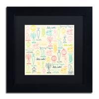 Elizabeth Caldwell 'Yummy Veggies' Matted Framed Art