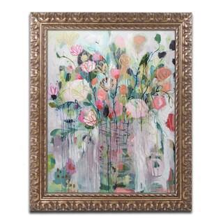 Carrie Schmitt 'Rainy Day' Ornate Framed Art