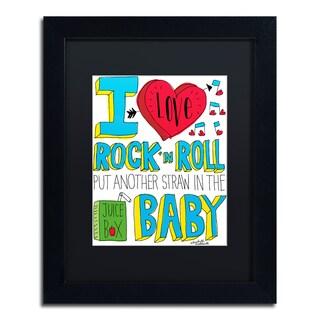 Elizabeth Caldwell 'I love Rock n Roll' Matted Framed Art