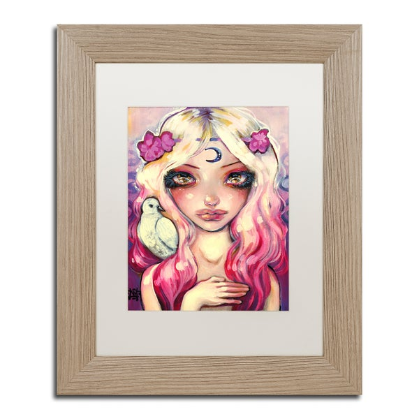 Natasha Wescoat 'Moon Child' Matted Framed Art