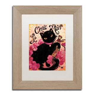 Natasha Wescoat 'Le Chat Noir' Matted Framed Art