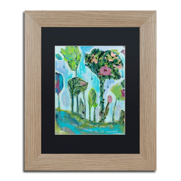 Carrie Schmitt 'Surrender To The River of Your Life' Matted Framed Art