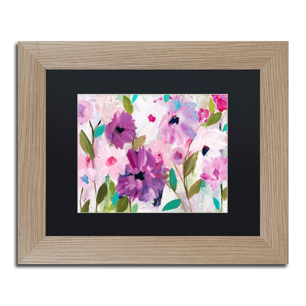 Carrie Schmitt 'Blossoming' Matted Framed Art