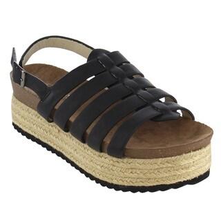 Nature Breeze FJ14 Women's Platform Wedge Heel Espadrilles Sling Back Sandals