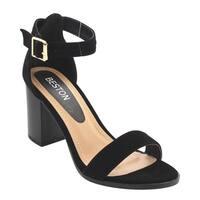 Beston EG21 Women's Ankle Strap Stacked Heel Casual Dress Heels