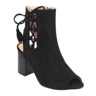 Beston FH25 Women's Tassels Side Ankle Bootie Sandals Half Size Small