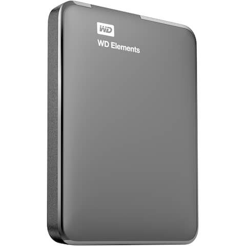 1TB WD Elements USB 3.0 high-capacity portable hard drive for Windows