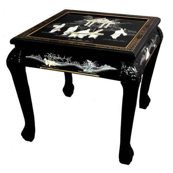 Handmade Claw Foot End Table (China) (Black)