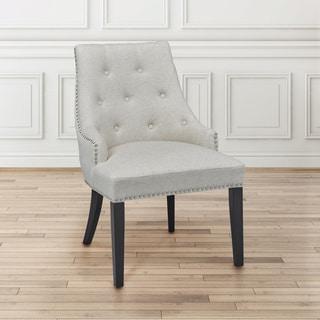 Uptown Club Onix Beige Linen Accent Lounge Chair
