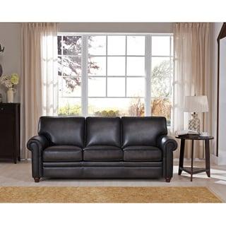 Alva Premium Grey Top Grain Leather Sofa