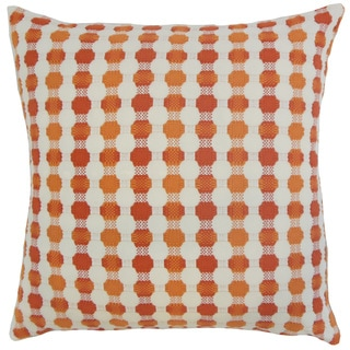 Erela Geometric 22-inch Down Feather Throw Pillow Tangerine