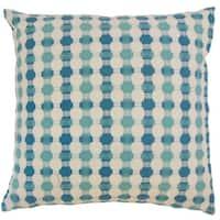 Erela Geometric 22-inch Down Feather Throw Pillow Bermuda