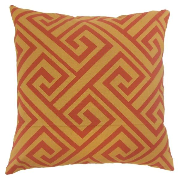 "Josue Geometric 22"" x 22"" Down Feather Throw Pillow Spice"