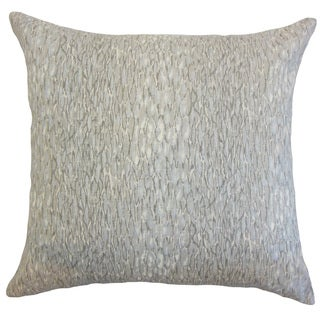 Galen Graphic 22-inch Down Feather Throw Pillow Metal