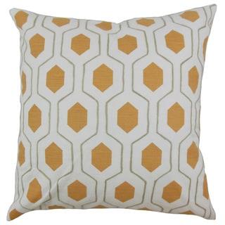 Flynn Geometric 22-inch Down Feather Throw Pillow Pumpkin
