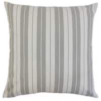 Henley Stripes 22-inch Down Feather Throw Pillow Slate