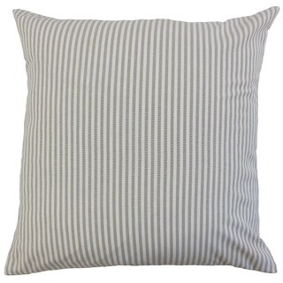 Ira Stripes 22-inch Down Feather Throw Pillow Slate