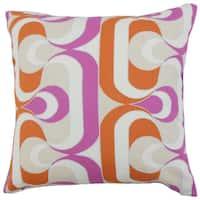 Nairobi Geometric 22-inch Down Feather Throw Pillow Tangerine