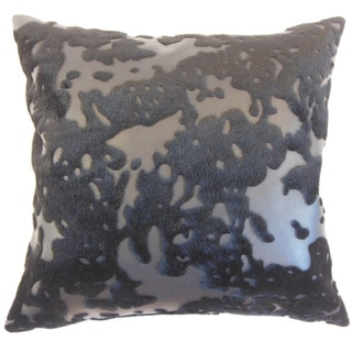 "Yvaine Faux Fur 22"" x 22"" Down Feather Throw Pillow Black"