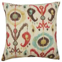 """Ikea Ikat 22"""" x 22"""" Down Feather Throw Pillow Copper"""