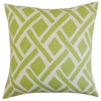 "Satchel Geometric 22"" x 22"" Down Feather Throw Pillow New Leaf"
