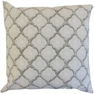 Padma Geometric 22-inch Down Feather Throw Pillow Mineral