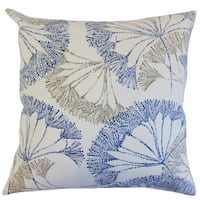 "Grove Floral 22"" x 22"" Down Feather Throw Pillow Blue"