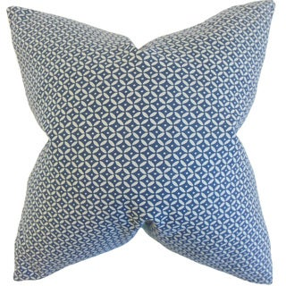 Nima Geometric 22-inch Down Feather Throw Pillow Indigo