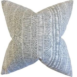 Jem Geometric 22-inch Down Feather Throw Pillow Greystone