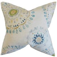 Hali Geometric 22-inch Down Feather Throw Pillow Rain
