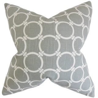 Betchet Geometric 22-inch Down Feather Throw Pillow Ash