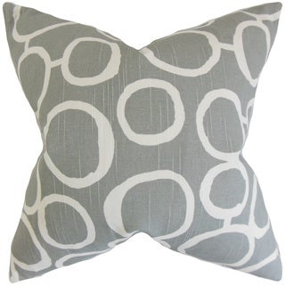 Franca Geometric 22-inch Down Feather Throw Pillow Ash