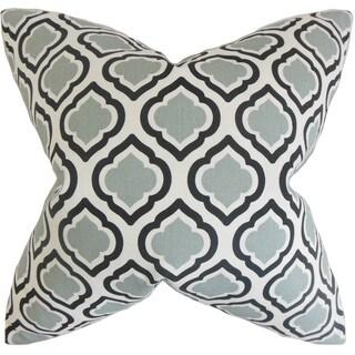 Abijah Geometric 22-inch Down Feather Throw Pillow Grey