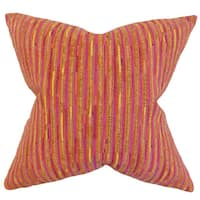 Qiturah Stripes 22-inch Down Feather Throw Pillow Yellow