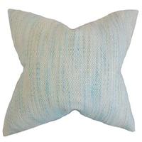 Lakota Stripes 22-inch Down Feather Throw Pillow Baby Blue