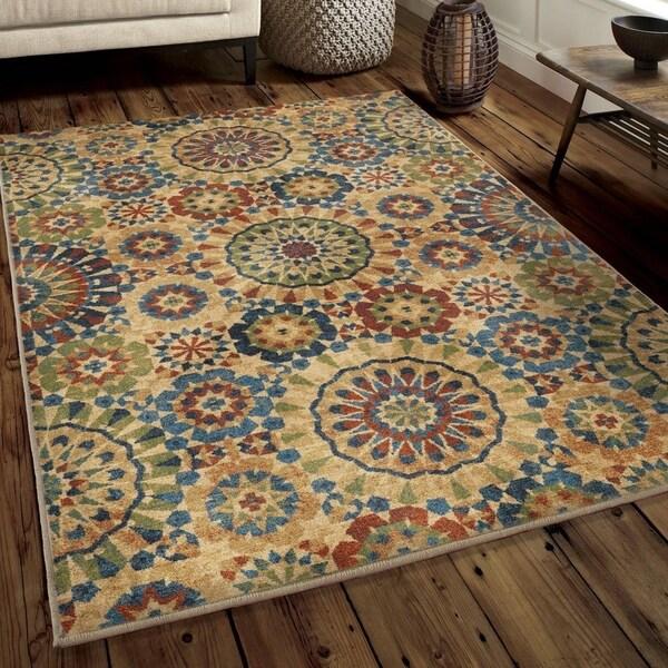Shop Chic Du Jour Collection Casablanca Tile Multi Rug 5