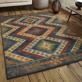 "Chic Du Jour Collection Kilim Diamonds Harvest Rug (5'3"" x 7'6"")"
