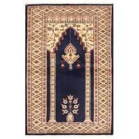 Handmade Herat Oriental Pakistani Bokhara Wool Rug - 2'7 x 3'11 (Pakistan)